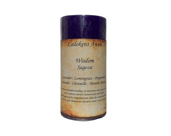 """Lailokens Awen Wisdom 2"""" x 4"""" Scented Spell Candle"""