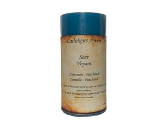 """Lailokens Awen Seer 2"""" x 4"""" Scented Spell Candle"""