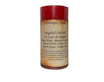 """Lailokens Awen Brighid's Hearth - Happy Home 2"""" x 4"""" Scented Spell Candle"""
