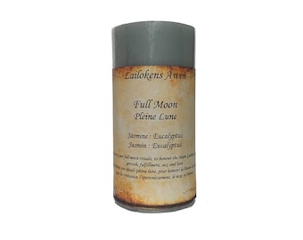 """Lailokens Awen Full Moon 2"""" x 4"""" Scented Spell Candle"""