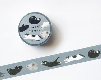Cat lying down -  Washi Tape