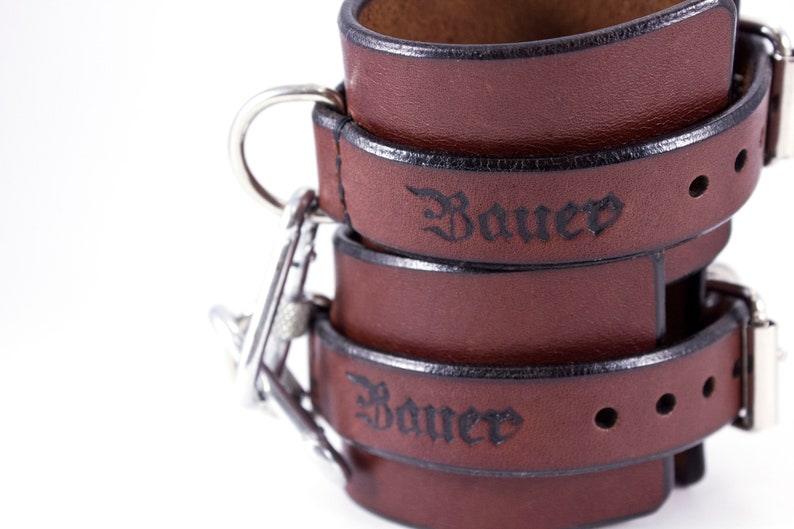 Leather Handcuffs BDSM For Lovers-Submission Handcuffs-Restrains-Leather Bracelets