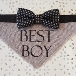Best Boy dog wedding bandana