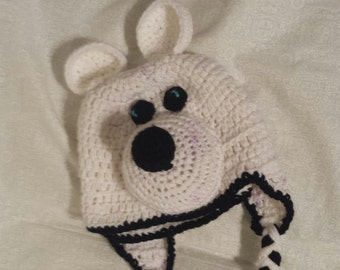 Hand Crocheted Polar Bear Hat