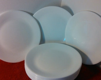 Reserved for Bonnie, 16 corelle large dinner plates set of 16 by corning, white winter frost