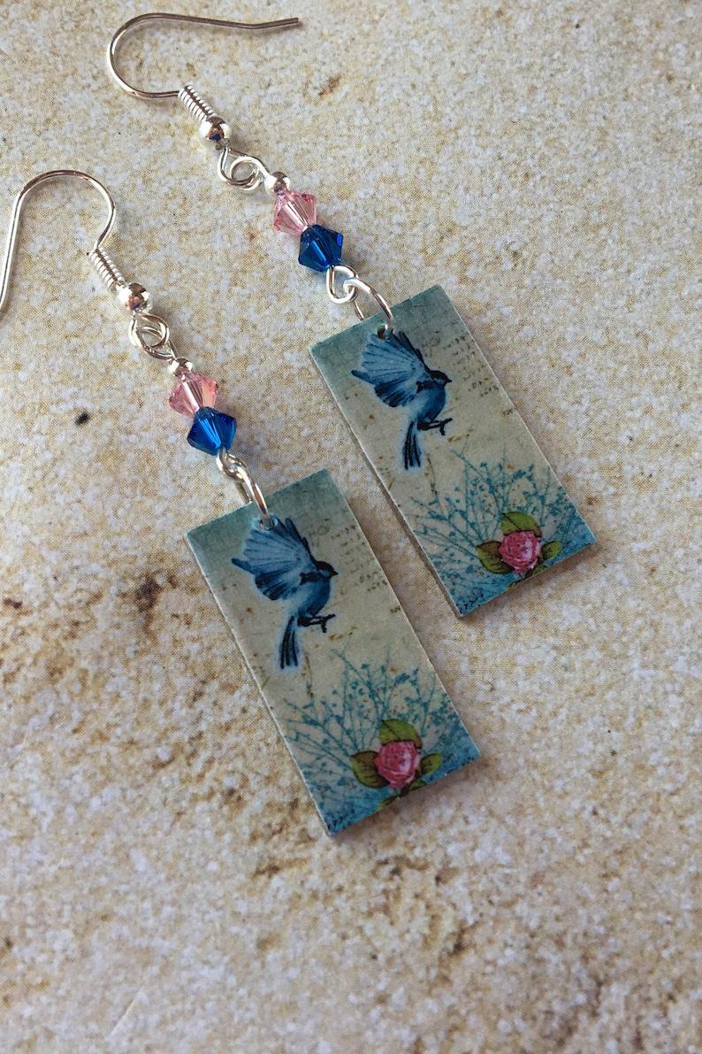 Dangle Earrings Jewelry Earrings Earrings Paper Print Over Art Board Earrings
