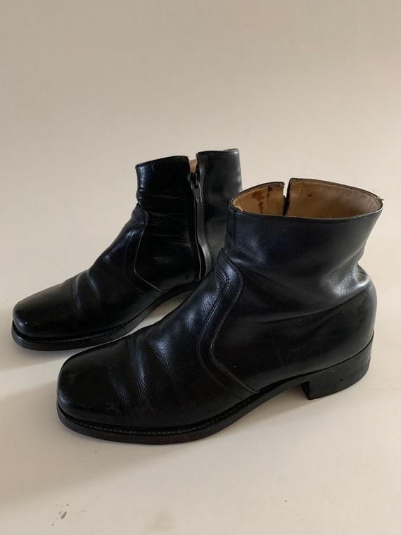 Vintage Florsheim Leather Beatle Boots Size 8