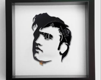 Elvis Presley 'Jailhouse Rock' Vinyl Record Art