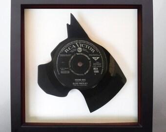 Elvis Presley Hound Dog Vinyl Record Art