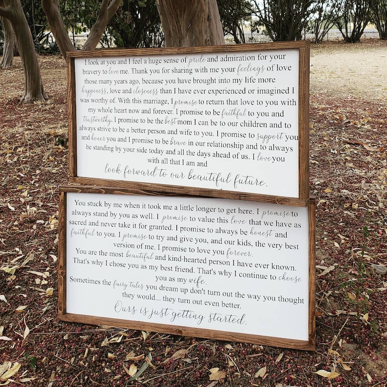 Personal Wedding Vows.Personal Wedding Vow Signs Wedding Vows Wedding Vows On Wood Painted Wedding Vows On Wood Personal Wedding Vows Painted On Wood Vows