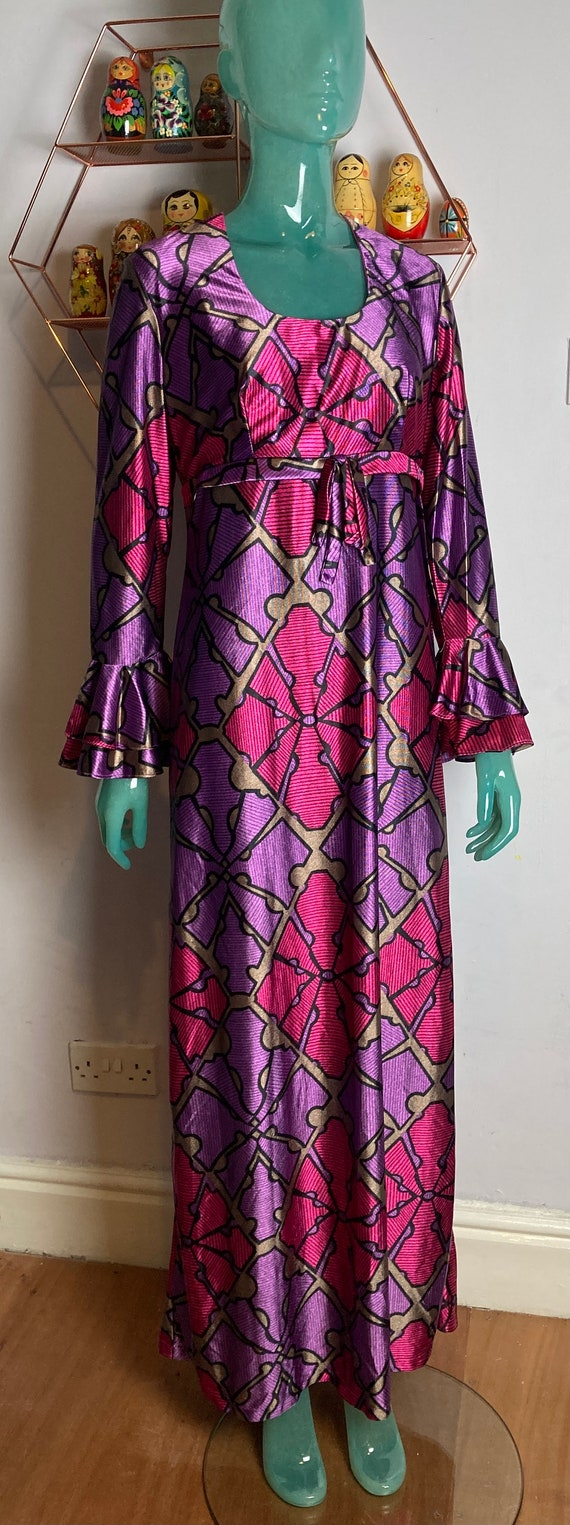 Incredible 1960s, Psychedelic print Maxi Dress 12-