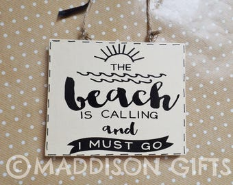 Beach Quote Wall Hanging Ornament Seaside Home Decor Gift Idea