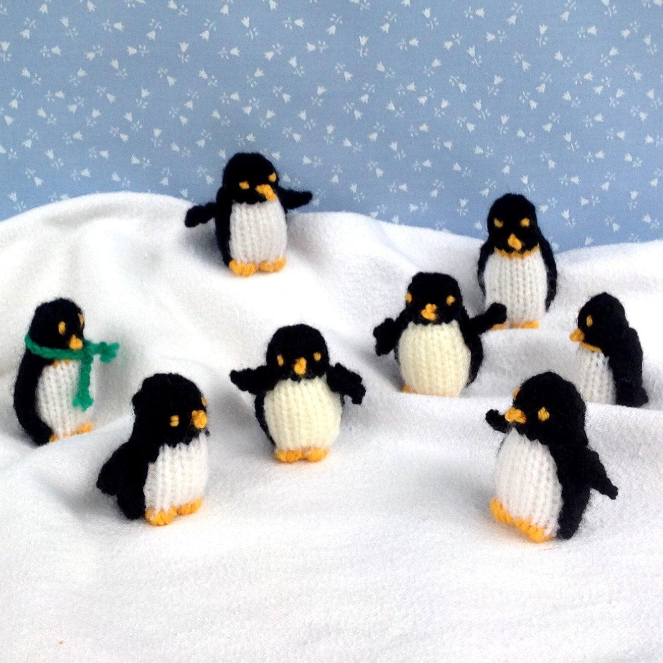 TINY PENGUINS - knitted penguin knitting pattern - Instant Digital ...
