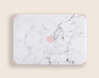 Pink and White Marble Macbook Case | Hard Marble Case | White Marble Mac | Air 13 | Pro 13 15 16 | 13 Touchbar | Pro