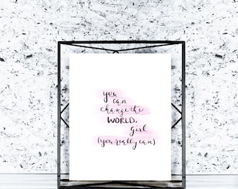 Change Print | Digital Download Printable Art Printable Wall Art Stationary Printable Calligraphy Bedroom Decor Wall Art Office Decor