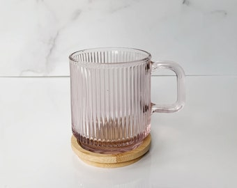 Pink Ribbed Coffee Mug | Self Care Kit | Care Package for Her | Get Well Package | Coffee Lovers Gift