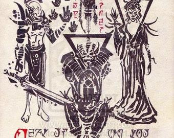 The Tribunal Gods of Morrowind Print