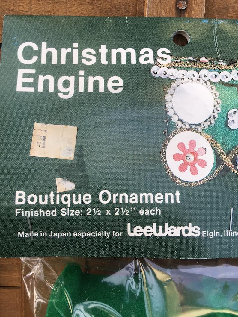 Train Christmas Ornament Kit Christmas Engine Vintage Lee Wards