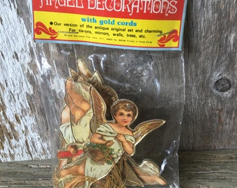 Vintage Cardboard Angel Ornaments, 1979 Merrimack Publishing
