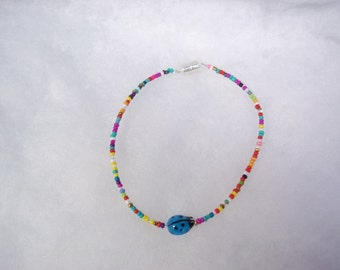 Blue Lady Bug Anklet