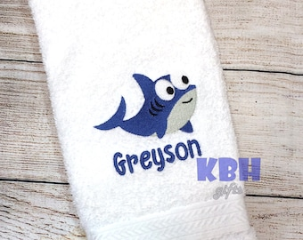 Personalized Whale Hand Towel
