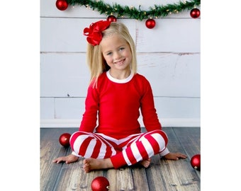 PREORDER: Embroidered Christmas Pajamas Winter Pajamas