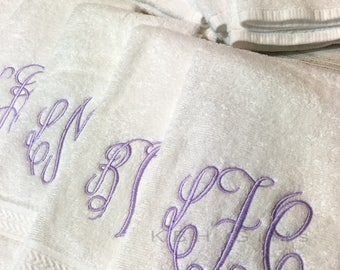 SHIPS FAST!!! Monogrammed Hand Towel