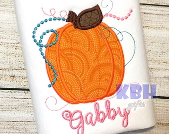 Embroidered Thanksgiving Pumpkin Shirt