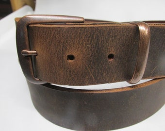 Vintage SADDLER Genuine Leather Belt; Floral Stamped Wast Belt;Size 33-3784cm-94cm Brown Color Belt with Bronze Color Round Buckle