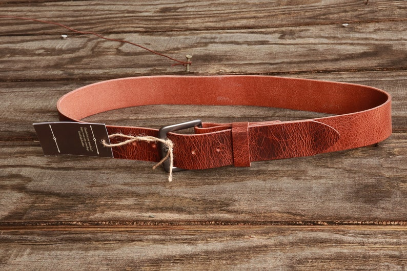 Custom Handmade Belt Antique Finish Water Buffalo Made in USA