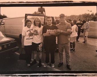 the Melvins w/ parents, Olympia Wa. circa: 1991, PHOTOGRAPH silver gelatin print from negative - KRK Dominguez fLIPSIDE fanzine