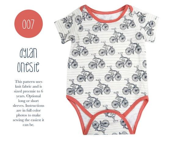007 Dylan Onesie PDF Sewing Pattern Kids Baby Boy Girl Kid | Etsy