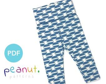Legging Sewing Pattern • PDF Sewing Pattern • Baby, Kid, Toddler, Infant, Child • Peanut Patterns #38 Celeste