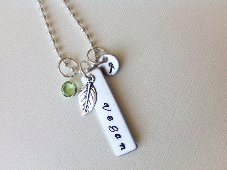 Personalized Vegan Necklace Birthday Gift For Mom