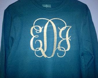Long Sleeve Monogrammed T-Shirt
