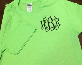 Short  Sleeve Monogrammed T-Shirt