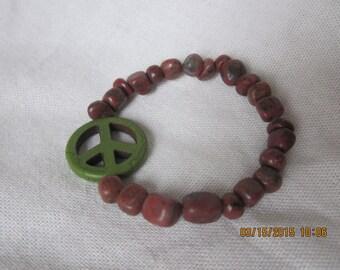 Green peace bracelet