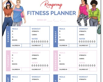 Fitness Planner Notepad