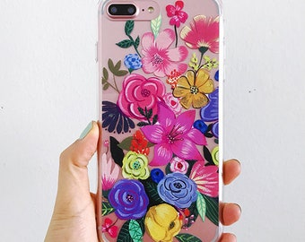 Flower Iphone Cases , Tropical iphone case, Summer iPhone cases, Nature phone case, Tropical phone cover, Illustration phone case.