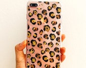 Leopard Prints Phone Case, Clear IPhone case,Chic IPhone Case,IPhone Case Clear,Cute Iphone case,Gift for her,Leopard shoe