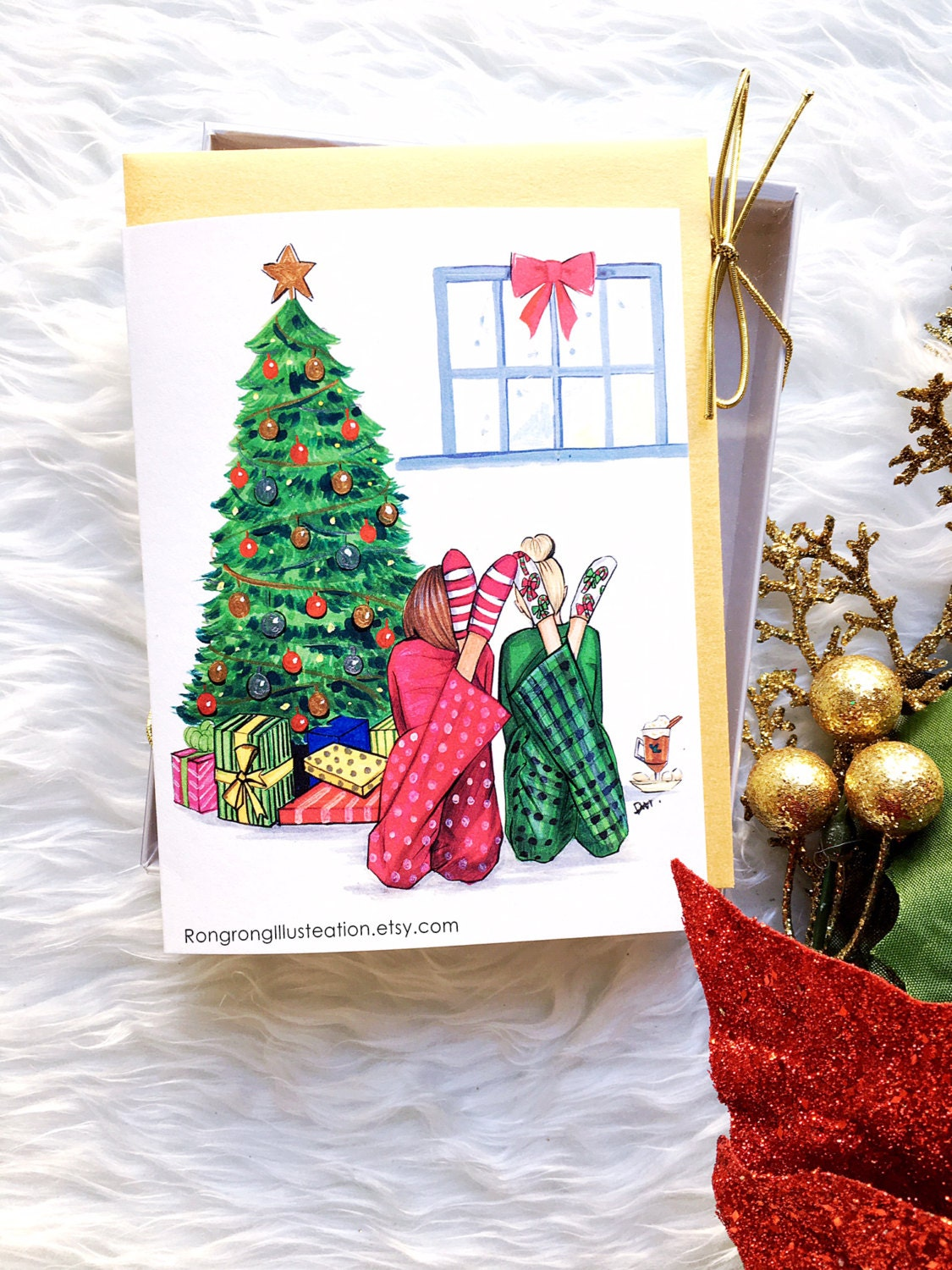 Christmas card setGreeting cardsChristmas cards Greeting | Etsy