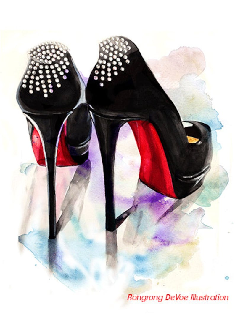 abf6c2e2850a Christian Louboutin Illustration Fashion Illustration Print