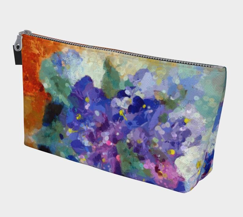 Violets Spa Bag Knitting Project Bag Crochet Bag Bath image 0