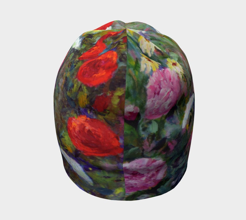 ba387b3d04cd0 Soft Bamboo Beanie Hat Pink Flower Hat for Women Old Fashioned