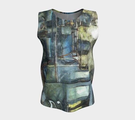3e1350e5f406 Steampunk Tank Top Loose Tank Women Teen Jersey Fabric Top