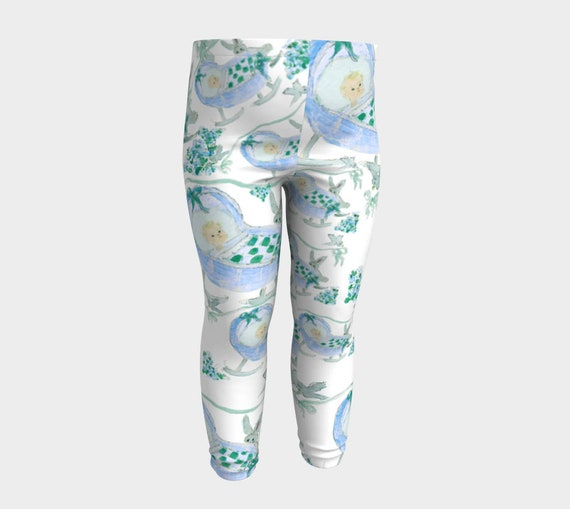 toddler legging baby Feeling the blues 6m-3 yr baby pants- toddler leggings-floral print
