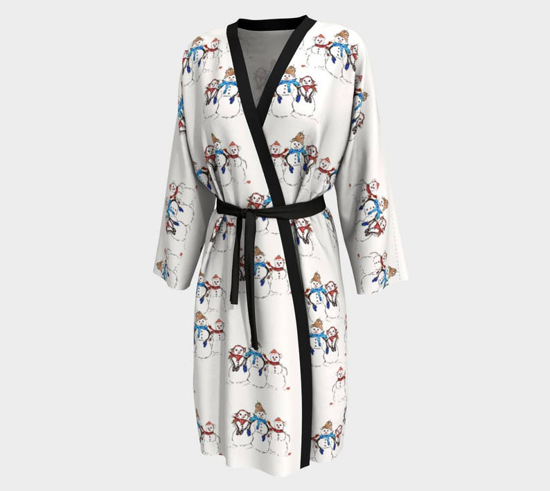 speical offer dependable performance Super discount Kimono Robe Unisex Robe Winter Robes Christmas Robe Wearable Art Women's  Robe Men's Robe Printed Bathrobe His and Hers Snowman Family Robe