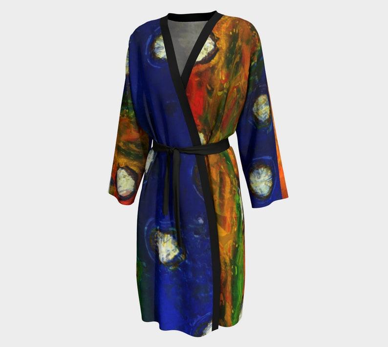 0222b4f1af Mens Kimono Robe Colorful Unisex Kimono Robe Lightweight Men