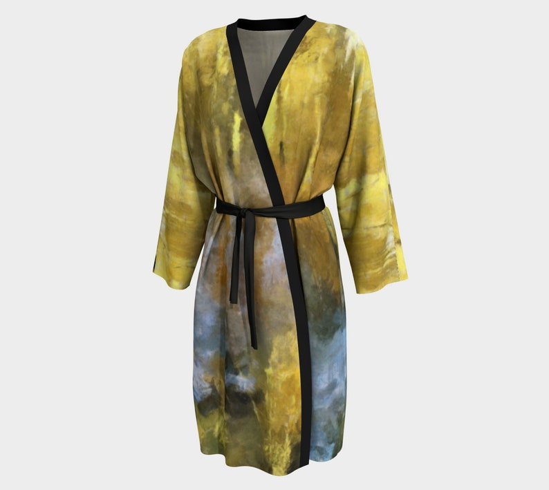 Autumn Gold Kimono Robe Unisex Robe for His and Hers Gift image 0