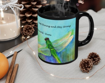 Dragonfly Lover Mug, Insect Mug, Rumi Quote Art, Spiritual Meditation Mugs for Women, Nature Lover Gift for Brother, Coffee Cup for Her
